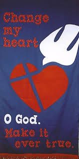 Would be good for Lent, although original pin says: church banner easter - Google Search