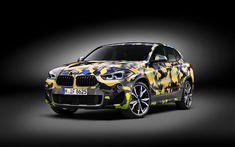 Lataa kuva 4k, BMW X2 Digitaalinen Camo Käsite, jakosuotimet, 2018 autoja, BMW X2, tuning, saksan autoja, BMW