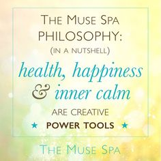 The Muse Spa philosophy in a nutshell: health, happiness & inner calm are creative power tools. Mindfulness For Teachers, Coaching Questions, Creativity Quotes, Meaningful Life, Life Purpose, Health And Wellbeing, Free Samples, Philosophy, Muse