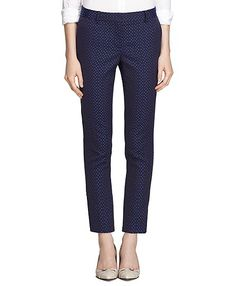 jacquard black and blue ankle cropped pants -- 25% off today and tomorrow!!