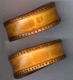 Naga arm bands with tooled details India lt 19th c (archives sold Singkiang)