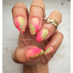 #NailArt - #vernis - #manucure - Tropical