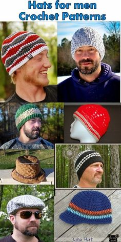 Posh Pooch Designs Dog Clothes: Hats For men Crochet Pattern Collection