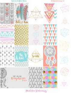 Boho Geometric Happy Planner Sticker Set at Mint Fox Stationery