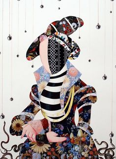 """Saatchi Online Artist: Ximo Gasc�n; Decoupage, 2011, Assemblage / Collage """"Lady VIII"""""""