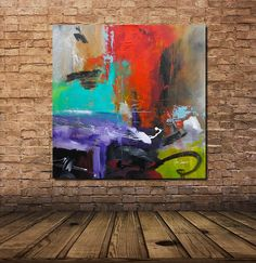 Large Original Modern Abstract Painting Contemporary by verybigart, $1200.00