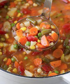 Our Best Vegan Recipes: Vegan Vegetable Soup Chicken Soup Recipes, Chili Recipes, Veggie Recipes, Cooking Recipes, Veggie Meals, Meal Recipes, Recipies, Vegetable Soup Crock Pot, Vegan Vegetable Soup