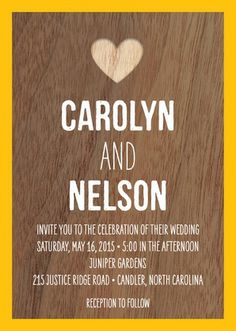 Wood Grain Love - Signature White Wedding Invitations - Night Owl Paper Goods - White : Front