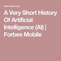 Key milestones in the evolution of artificial intelligence, machine learning, and robotics. What Is Data Science, Artificial Intelligence, Robotics, Machine Learning, Evolution, History, Homemade, Robots, Historia
