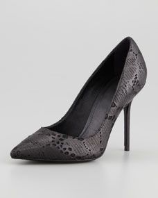 Laser Cut Lace-Detailed Pump, Black....going to be able to wear my heels again soon!!