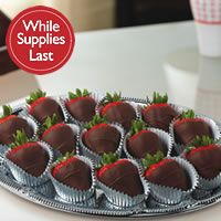Send a platter of gourmet dipped strawberries  to the ladies at work for mothers day only $37.00 call us 305-861-1771