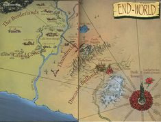 End-World, from The Dark Tower Wiki. Follow the path of the Beam to the Tower, not to the clearing in the forest.