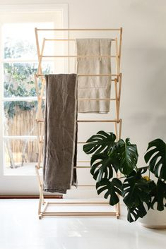 Folding Drying Rack Ladder Decor, Two By Two, It Is Finished, Inspiration, Design, Furniture, Easy Storage, Blackbird, Home Decor