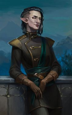 The few characters I've started (but haven't finished for various reasons) are Elven male mages, and the odd male Qunari mage.<<outfit, maybe hair Dragon Age Elf, Solas Dragon Age, Dragon Age Inquisition, Fantasy Character Design, Character Design Inspiration, Character Concept, Character Art, Concept Art, Elf Characters