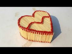 Matchstick heart gift box for valentine day | matchstick jewelry box making for valentine day gift. - YouTube