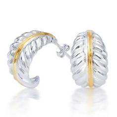 Nature Leaf Silver Gold Vermeil Dangle Earrings #nature #leaf