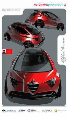 Alfa-Romeo City Car Concept  #alfa #alfaromeo #italiancars @automobiliahq