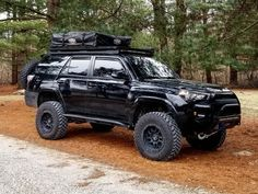 Off-Road Ready Toyota SUVs - Black Toyota Top upgrades you can do to your Toyota truck. Toyota Suvs, Toyota 4runner Trd, Toyota Trucks, Toyota Tundra, Toyota Vehicles, Overland 4runner, Overland Truck, Subaru Outback Offroad, 4runner Off Road