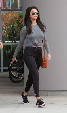 #SelenaGomez ~ @bodyrocktv | http://www.bodyrock.tv/style/style-watch-selena-flaunting-figure-sexy-skintight-gym-wear/