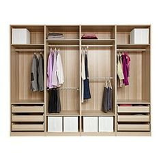 PAX Wardrobe with interior organizers - soft closing damper - IKEA