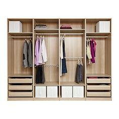 PAX Wardrobe with interior organizers - soft closing damper - IKEA