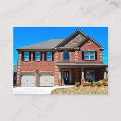 New Home For sale Business Card - real estate gifts business cyo diy customize Home Renovation Costs, Real Estate Gifts, New Home Construction, Good House, New Homes For Sale, Interior And Exterior, Mansions, House Styles, Kenmore Refrigerator