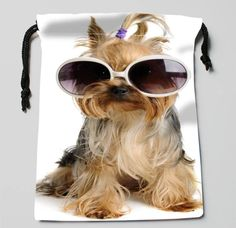 Superstar Yorkie Drawstring Pouch