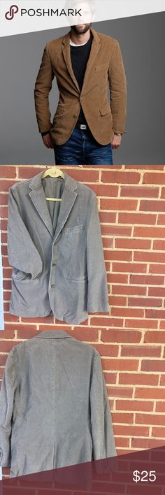 2e6db385015 Men s JCREW vintage cord blazer 100% cotton- gray cord blazer by JCREW-  fully
