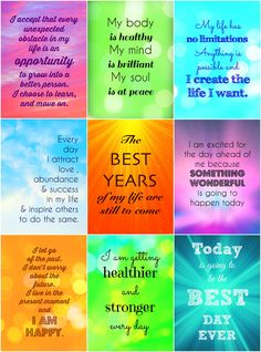 Positive affirmation cards - a daily dose of HAPPY for your mom :) Mother's day gift Louise Hay Affirmations, Daily Positive Affirmations, Positive Quotes, Words Quotes, Me Quotes, Daily Quotes, Sayings, Brene Brown Quotes, Uplifting Thoughts