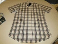 Mens Quiksilver Everyday Check SS short sleeve button up shirt S reg SGR1 plaid #Quiksilver #ButtonFront