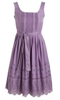 Delias Nadine Eyelet Dusty Violet Dress - not sure about the colour but a lovely design