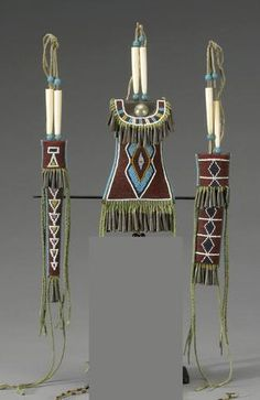 A Kiowa beaded belt set