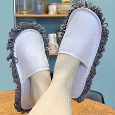 Funny footwear clean the floor in your pyjamas lazy mum man housemate gift