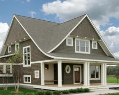 Cape Cod Paint Color Schemes | ... color. The grey shingles are contrasted with the linen colored trim