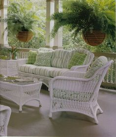 It's A Wonderful Palmetto Life Wicker Porch Furniture, Wicker Furniture, Outdoor Furniture Sets, Outdoor Spaces, Outdoor Living, Outdoor Decor, Casas Shabby Chic, Summer Porch, Home Porch