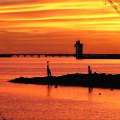 view from the point..... ohhhh how i miss these sunsets every day!!!!! #PASCAGOULA