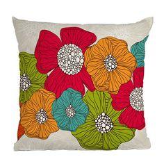 DENY Designs Valentina Ramos Flowers Throw Pillow | Pure Home