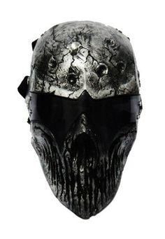 """ColdBloodArt #3 airsoft paintball mask - Dark Metal by ColdBloodArt. $170.00. - The mask made of Kevlar. - Vent around mouth - New lens design for more visibility - comes with a6 point buckle strap. -Come with removable padding. - size is about 8"""" X 10"""" - You will be safe with theremovable Polycarbonate lensesthat are the same as the ones used in paintball. - The Color that is used to paint the mask gets finished with a clear spray but some mask don't possesses th..."""