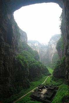Wulong Karst, China (three natural bridges park)