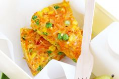 A great gluten free frittata, it's high in fibre and perfect for the lunchbox.
