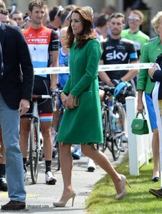 The Duke and Duchess of Cambridge and Prince Harry officially launched the Tour de France at Harewood House in Leeds today.