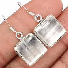 Selenite 925 Sterling Silver Earrings Jewelry SLNE239 - JJDesignerJewelry