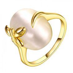 Anel Feminino Moda Oval Banhado a ouro Banhado a ouro rosa Banhado platina Liga Opala Diário - LKN18KRGPR630-7