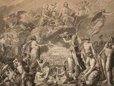 "Kupferstich ""Apotheose Zar Alexanders I."", F. de Meys, 19. JH"