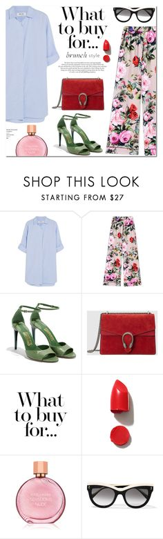 """""""Sunday Brunch Look"""" by stellaasteria ❤ liked on Polyvore featuring M.i.h Jeans, Dolce&Gabbana, Salvatore Ferragamo, Gucci, NARS Cosmetics, Estée Lauder and STELLA McCARTNEY"""
