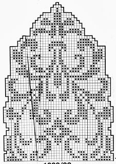 GRAFICO FORRO DE CROCHE FILÉ, or you could use it for a mitten chart? or a section of a hat?