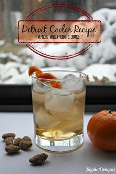 Detroit Cooler Recipe: Vernors ginger ale, Vanilla Vodka and Fresh Orange | Sypsie.com