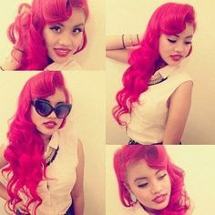 Love her red pinup hair