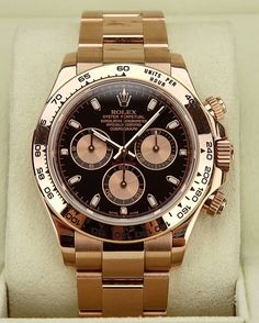 Rosé 116505 Rolex Daytona You like it?!? I do!!! By: @__payne__