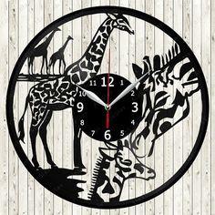 Clock Art, Clock Decor, Wall Clocks, Old Vinyl Records, Record Wall, Wood Burning Patterns, Free Shipping, Wall Art, Creative
